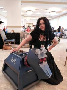 Jen cosplaying The Spider Witch from Lost Daughter of Easa.