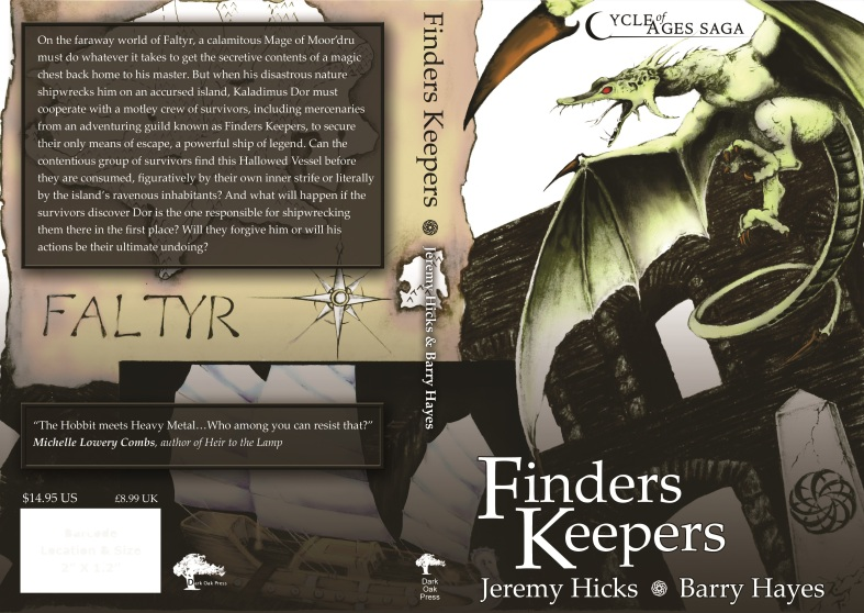 Paperback cover design from the second edition of the Cycle of Ages Saga: Finders Keepers.